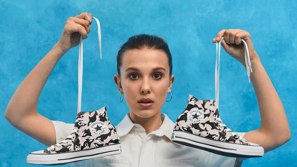 Intermedio trabajo Grabar  Millie Bobby Brown's Vegan Converse Will Make You Want to Free SeaWorld's  Whales | LIVEKINDLY