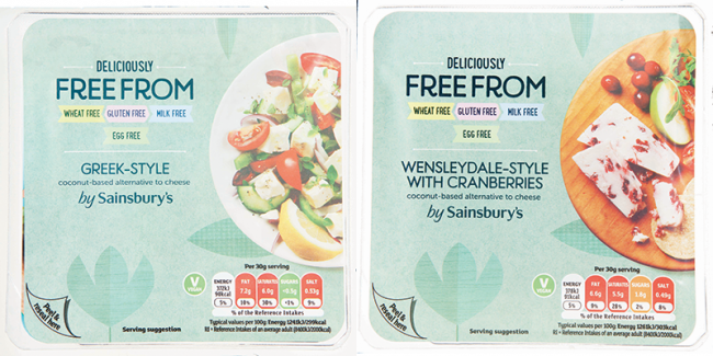 Sainsburys vegan cheese
