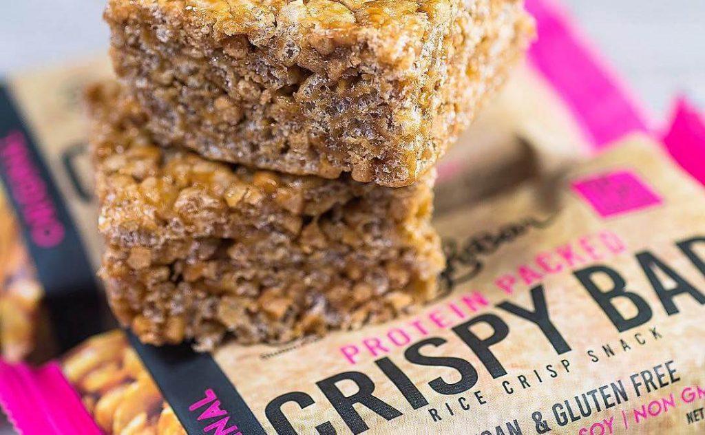 Vegan Snack Brand Launch High Protein Rice Krispy Bars