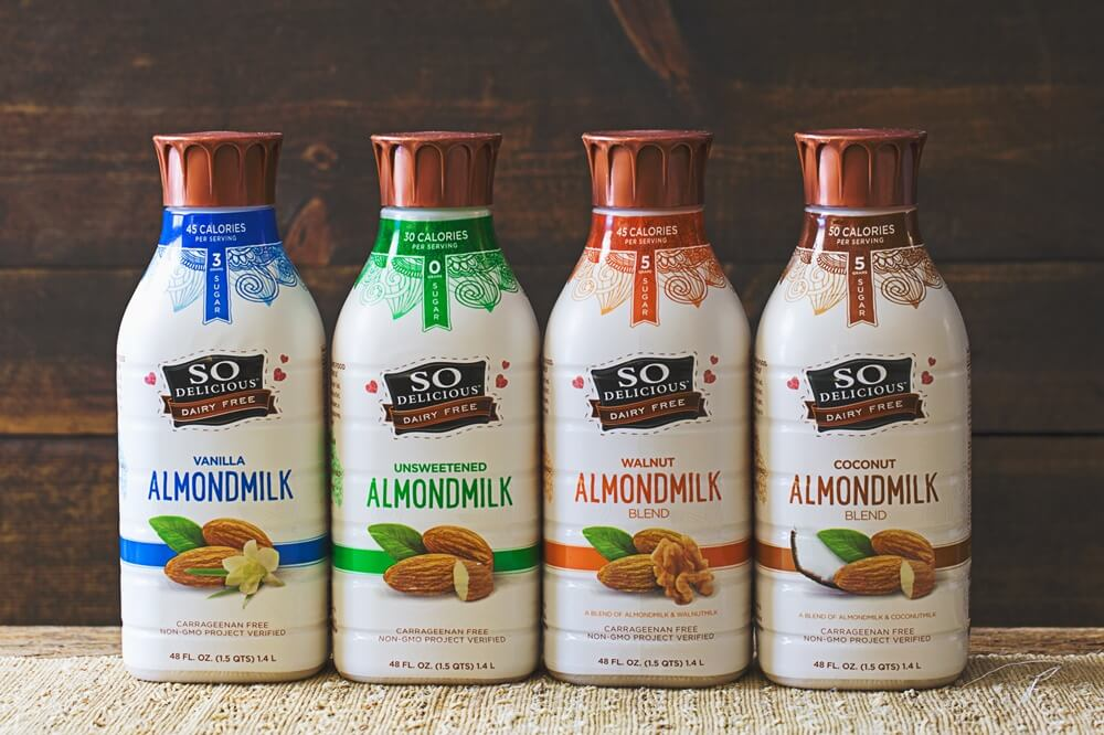 Vegan Nondairy Brand Launches New Almond-Cashew Milk in Recycled Plant-Based Bottles