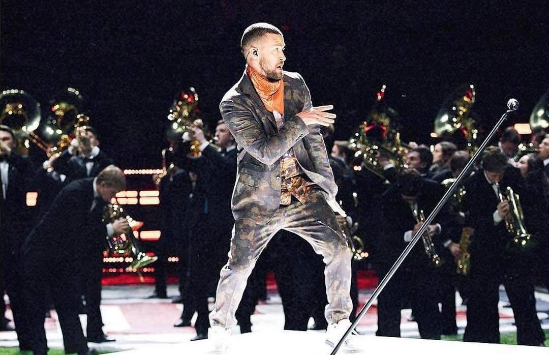 Justin Timberlake Rocks Vegan Menswear by Stella McCartney at Super Bowl Halftime Show