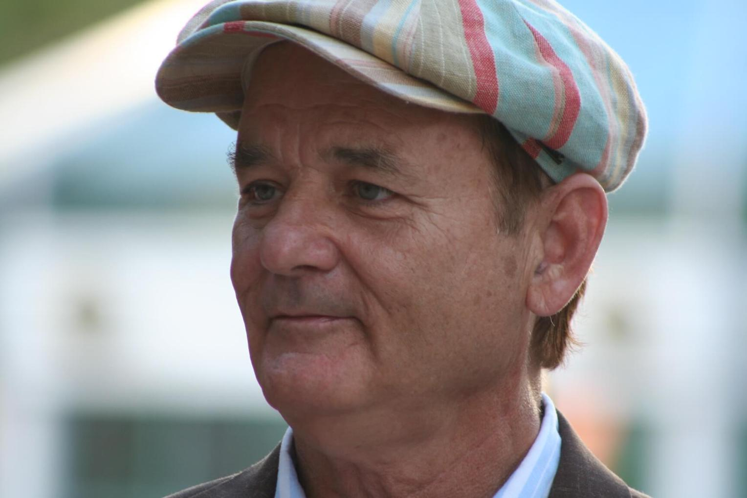 Actor Bill Murray Cuddles Rescue Dog on National Puppy Day