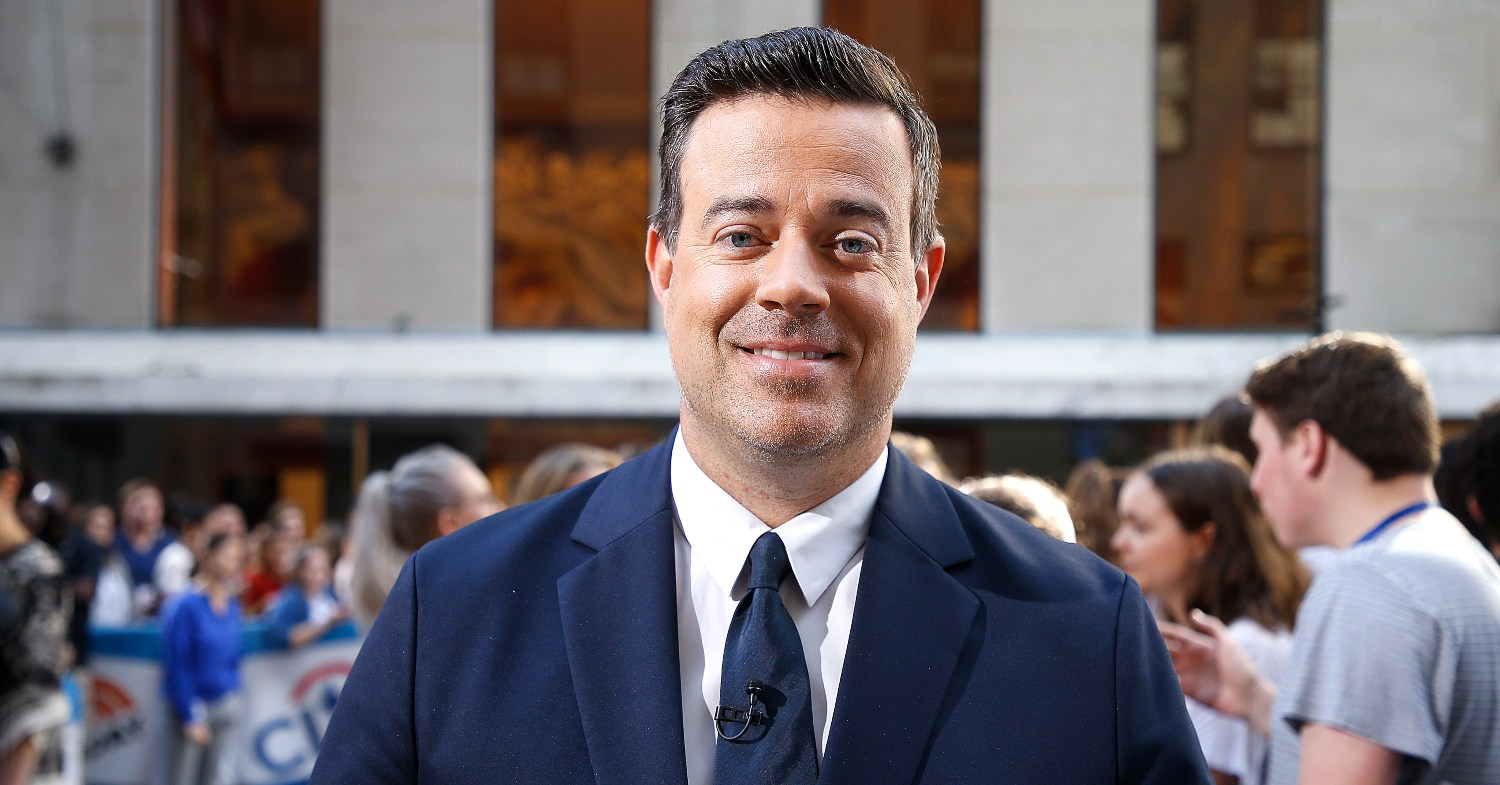 Today Show's Carson Daly pictured eating Beyond Meat.