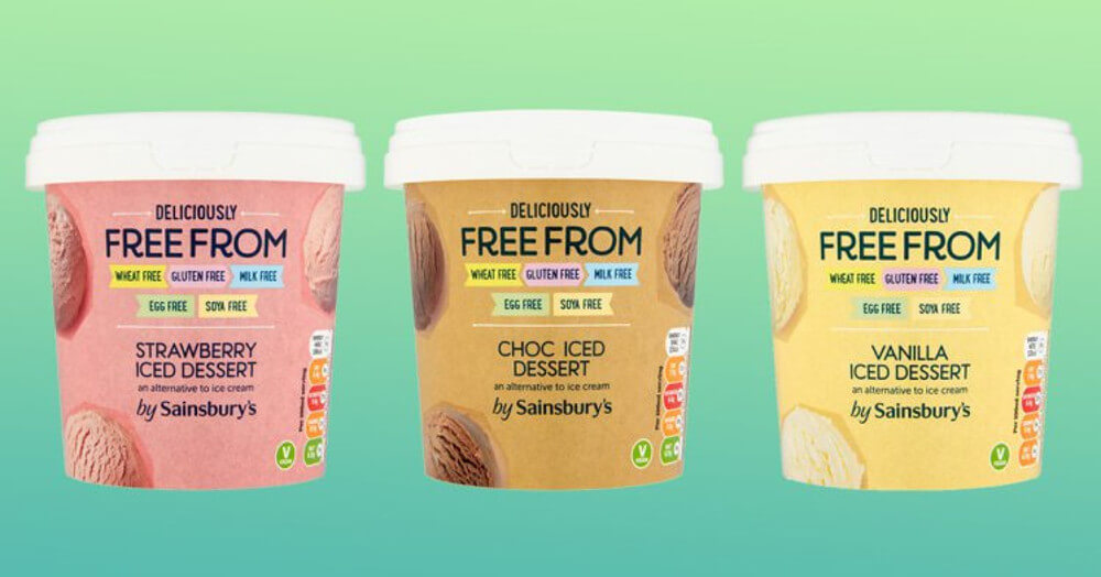Sainsbury's Launches 3 New Vegan Ice Cream Flavors