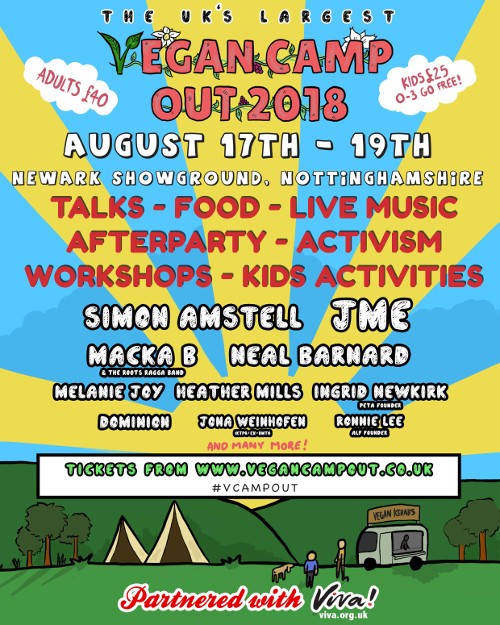Vegan Comedian and Director of 'Carnage' Simon Amstell to Headline UK Vegan Camp Out 2018