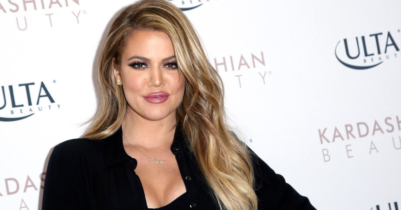Khloe Kardashian at a beauty event