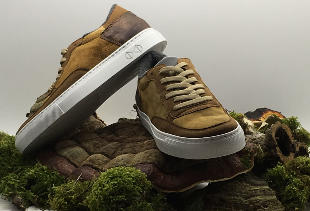 German Shoe Company Launches Vegan Mushroom Leather Sneakers