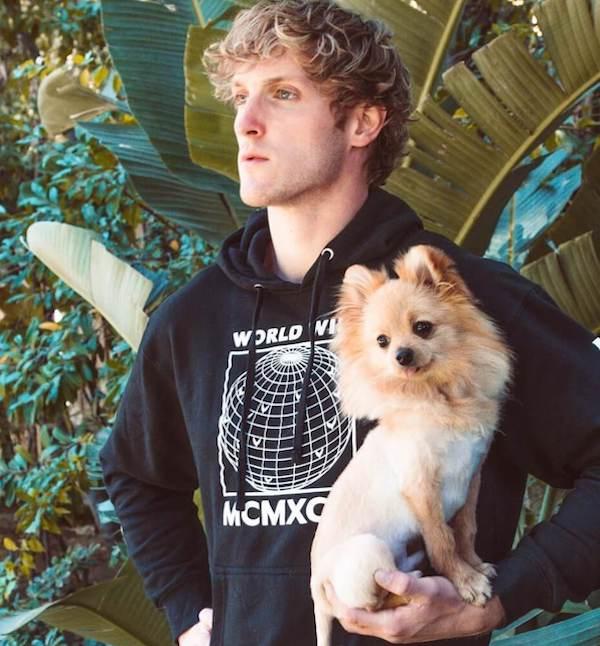 Logan Paul with Dog