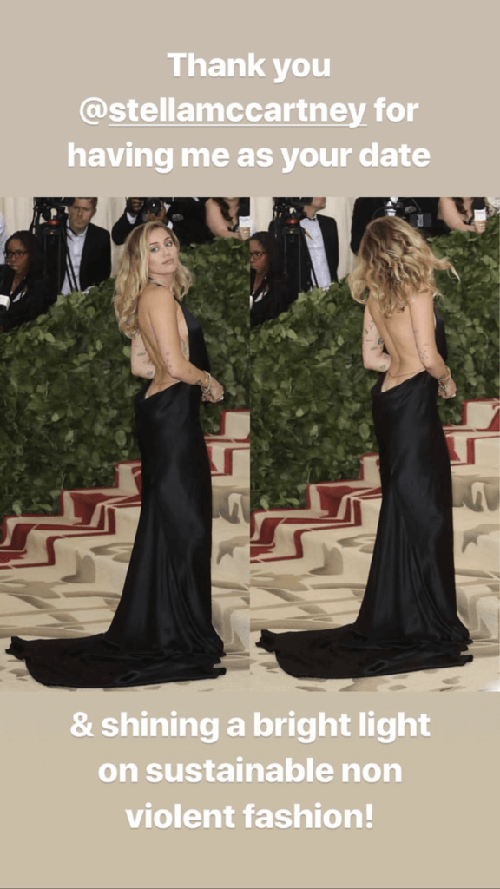 Miley Cyrus Rocks Vegan Fashion by Stella McCartney and MINK at the Met Gala