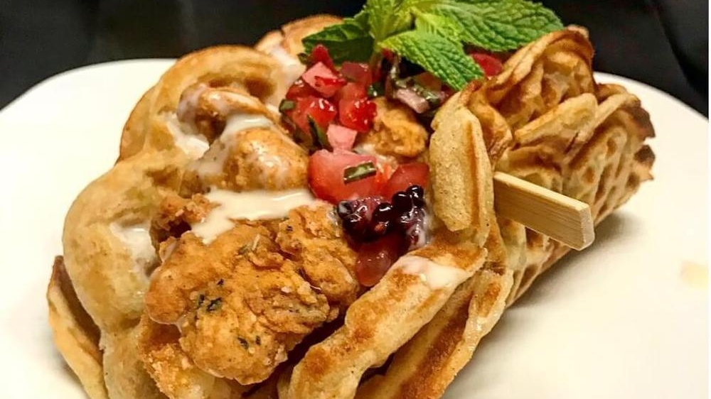 Anthem Vegan May Make the Best Chicken Waffle Tacos You've Ever Eaten