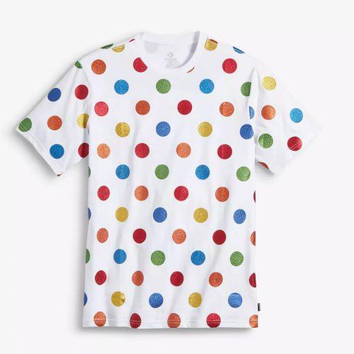 7.Converse Pride x Miley Cyrus Polka Dot T-Shirt in Black
