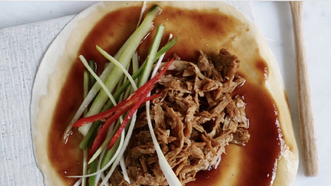 vegan shredded duck