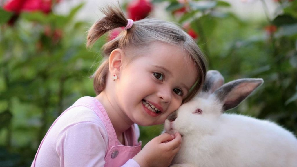 Kid with Bunny