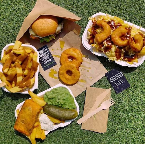 fried foods on lawn