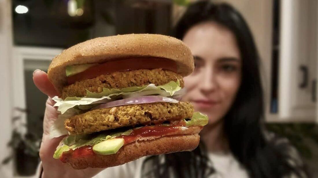 Walnut Burger Cropped