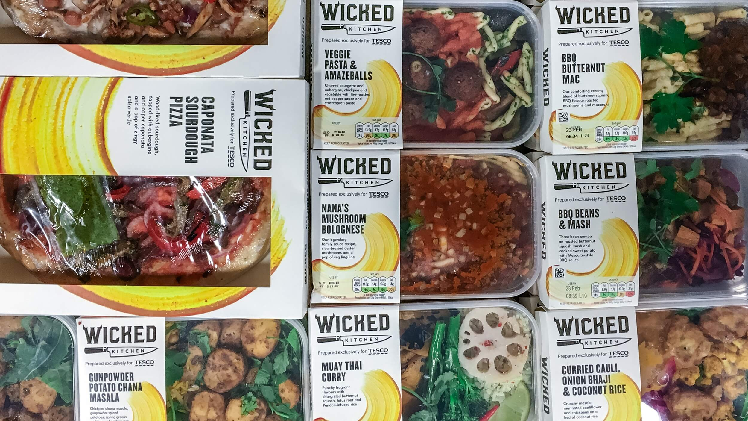 Tesco Sold Over 2.5 Million Vegan Wicked Kitchen Ready Meals in the First 5 Months Since Launching
