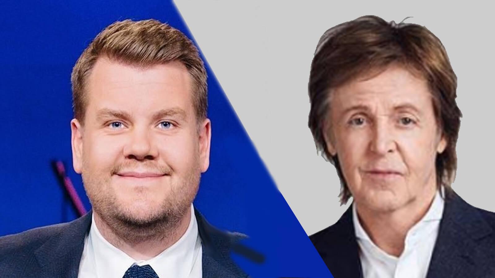 James Corden Goes Vegetarian and Films 'Carpool Karaoke' With Vegan Musician Paul McCartney