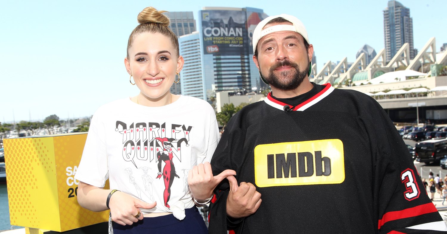 Kevin Smith and his daughter, Harley Quinn Smith.