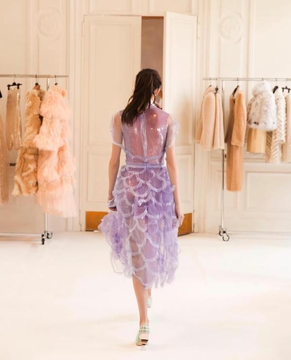 Fendi purple dress