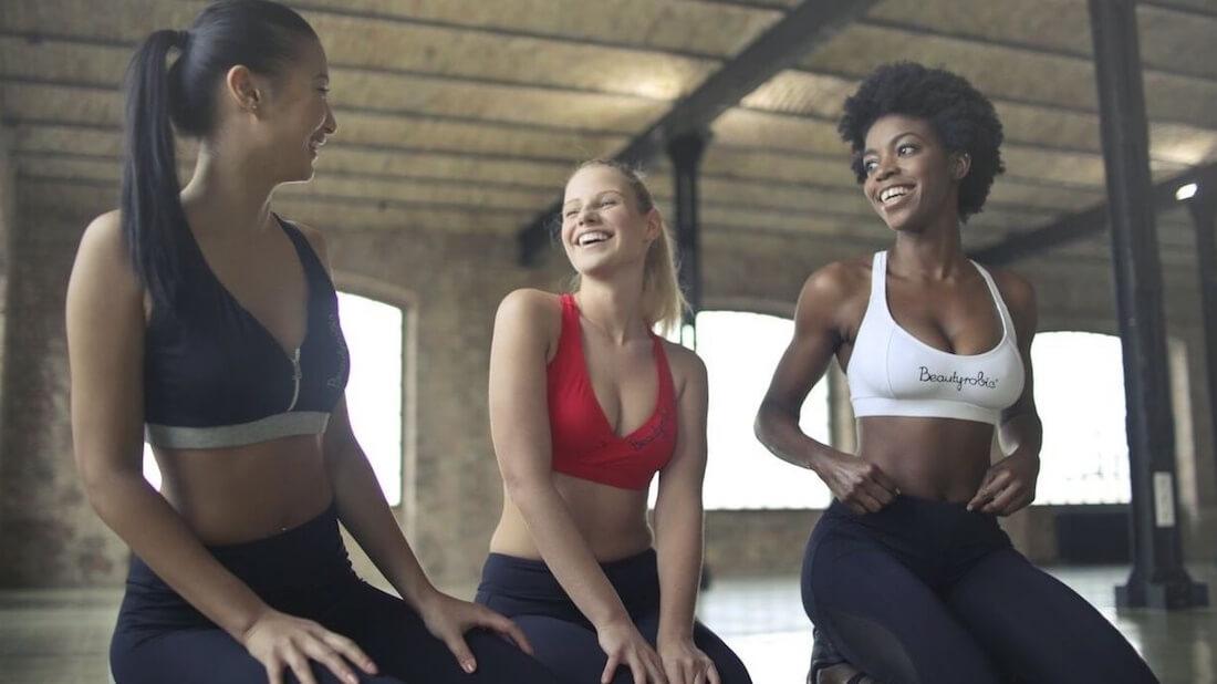 Women at a gym