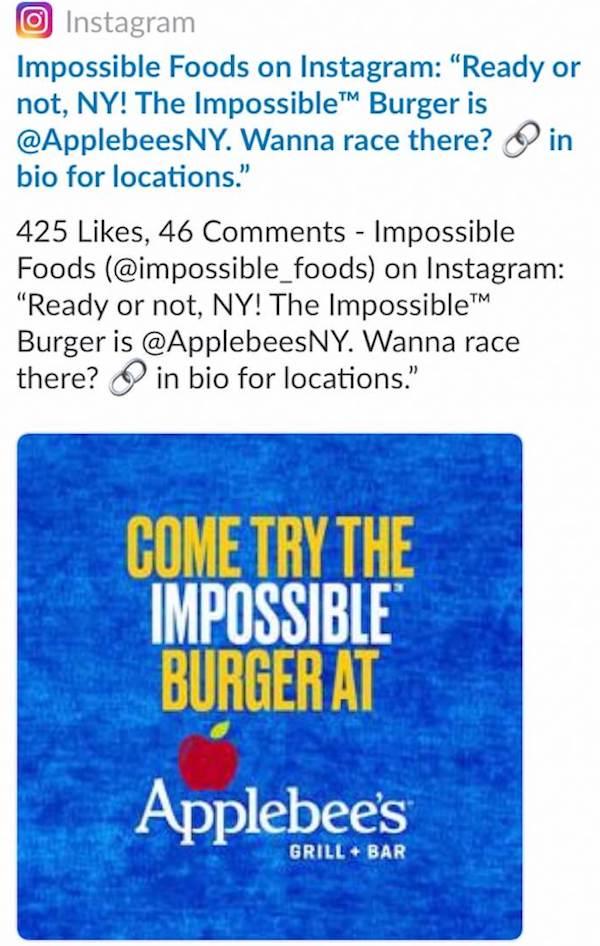 Instagram Caption Impossible Burger