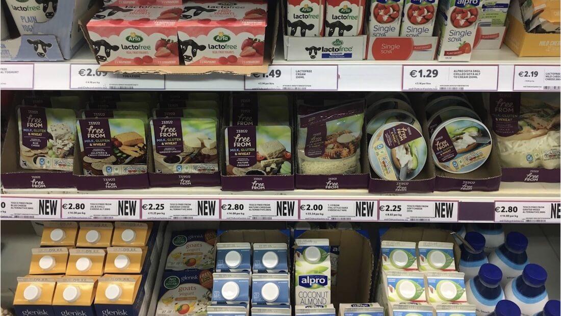 vegan cheese shelf