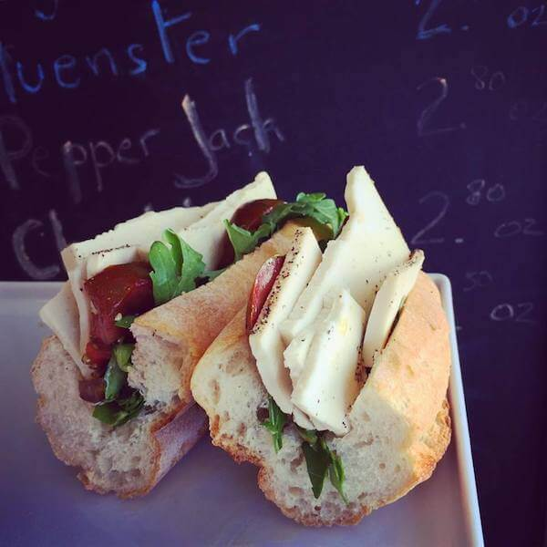 vegan cheese sandwich