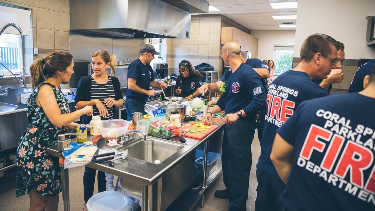 firefighters cook-off