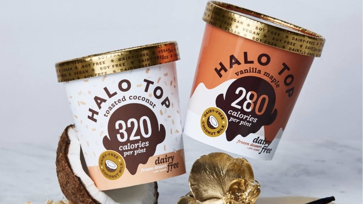 vegan halo top ice cream pints