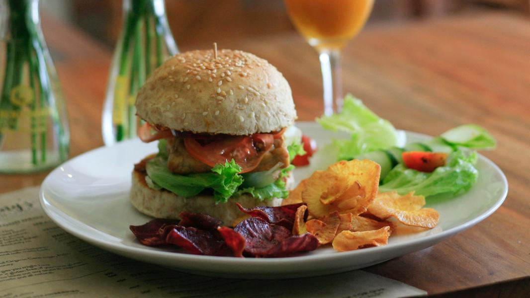 gluten-free vegan burger