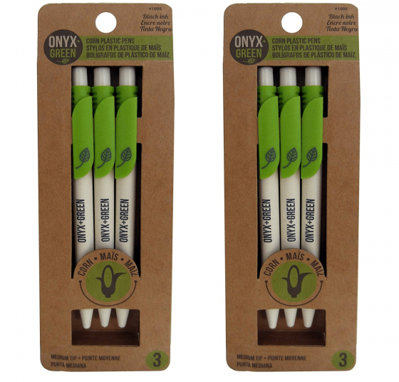 onyx green pens biodegradable