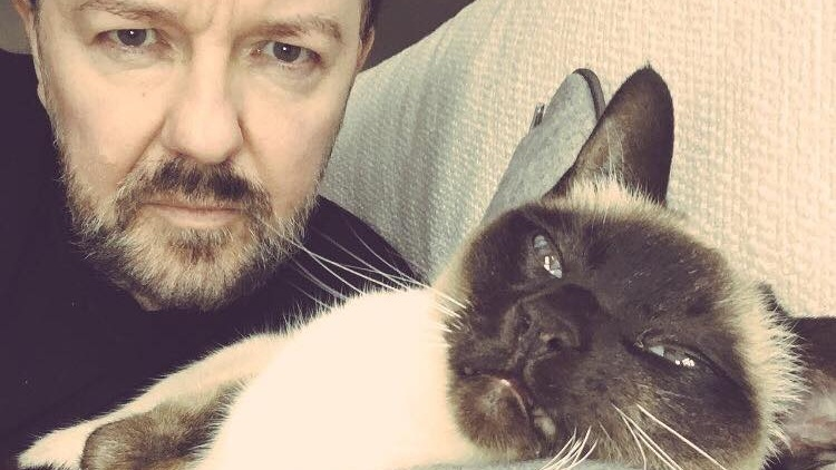 Vegetarian Comedian Ricky Gervais Urged to Go Vegan After Seeking Weight Loss Motivation