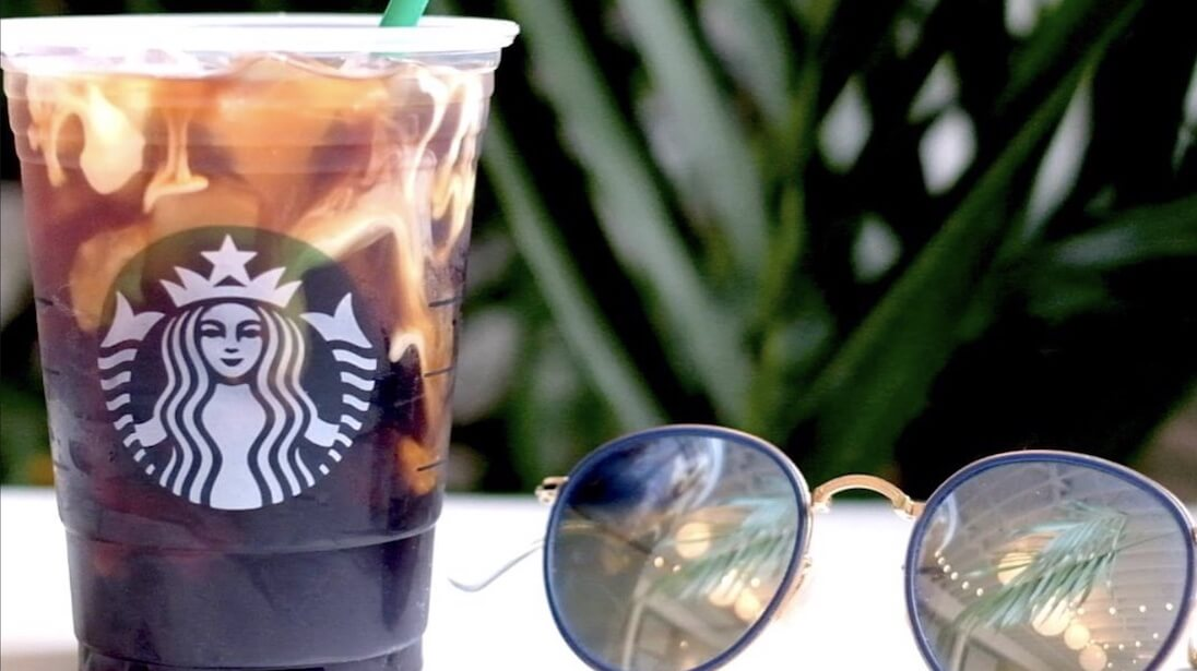 Iced Starbucks with Sunglasses