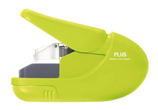 staple-less stapler