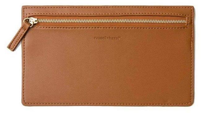 vegan camel leather pencil case