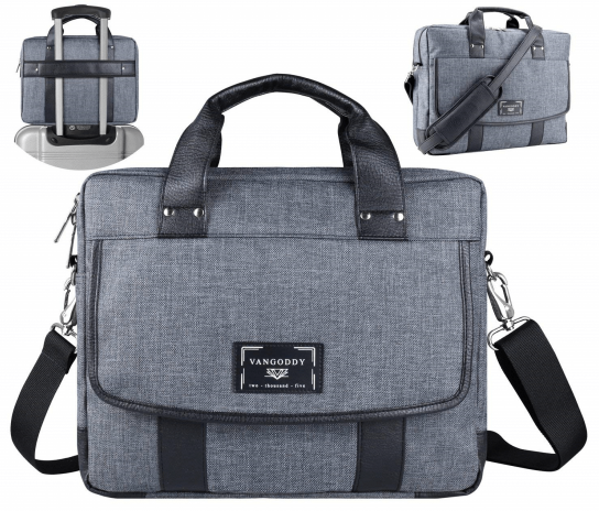 vegan messenger bag grey