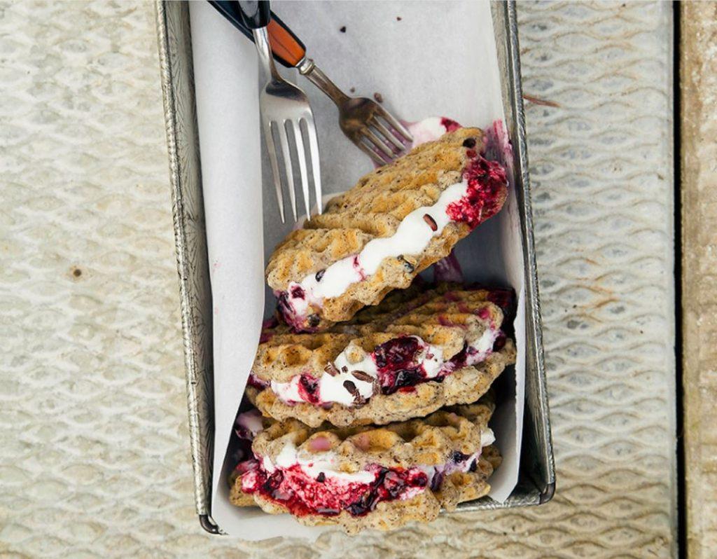 ice cream sammies waffle