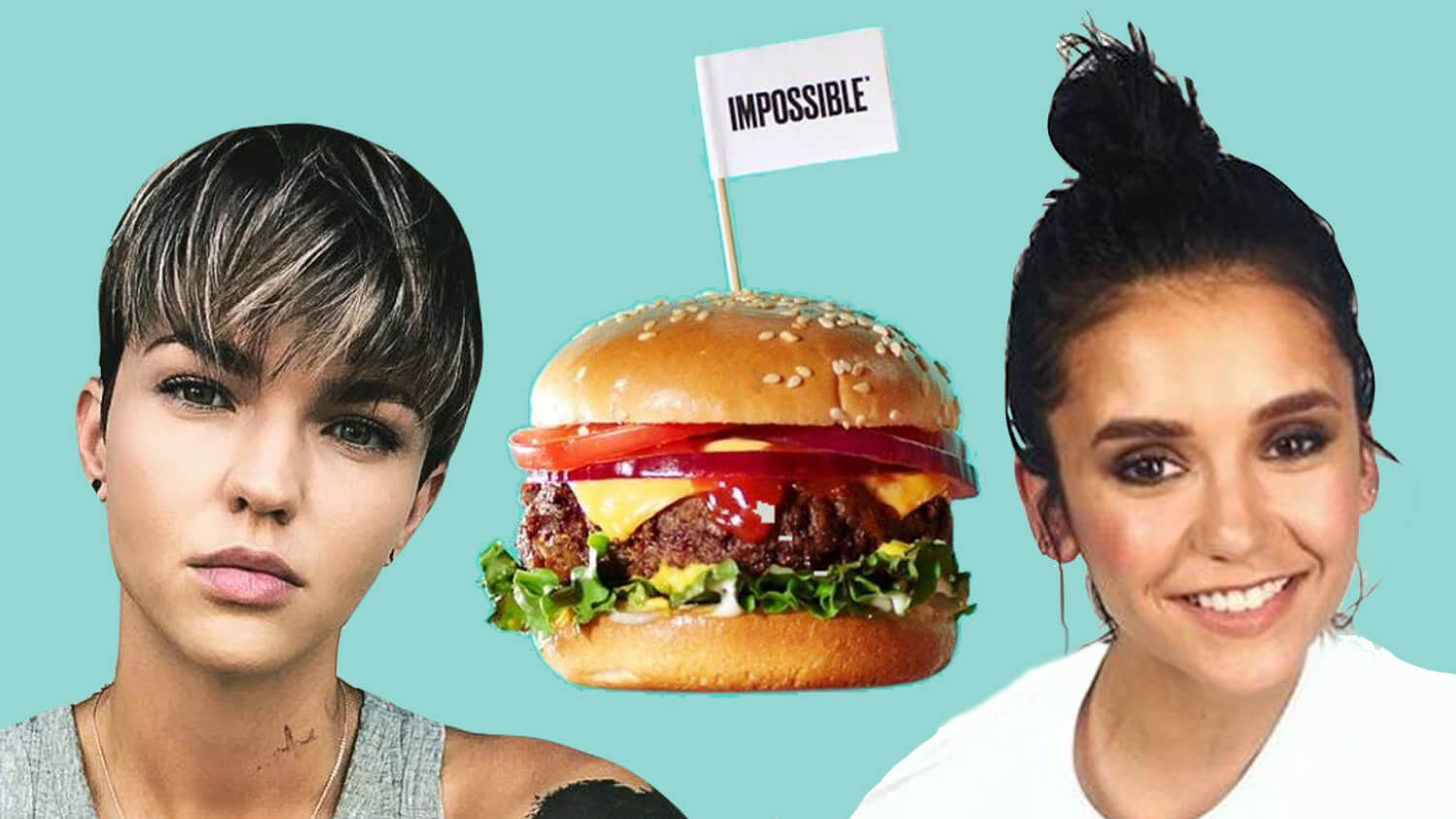 Nina Dobrev Trying to Go Vegan After Eating Impossible Burgers From Ruby Rose
