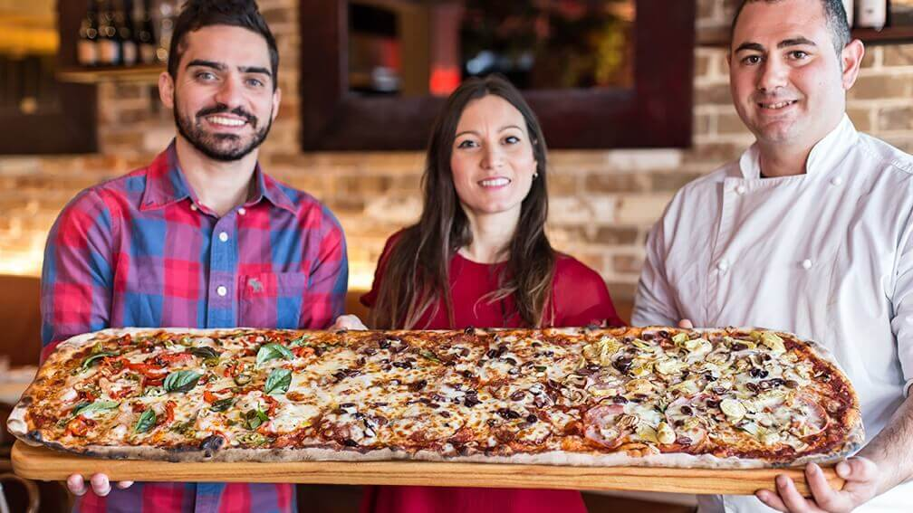 The Italian Bar Brings Meter-Long 'Godfather of Vegan Pizzas' to Sydney