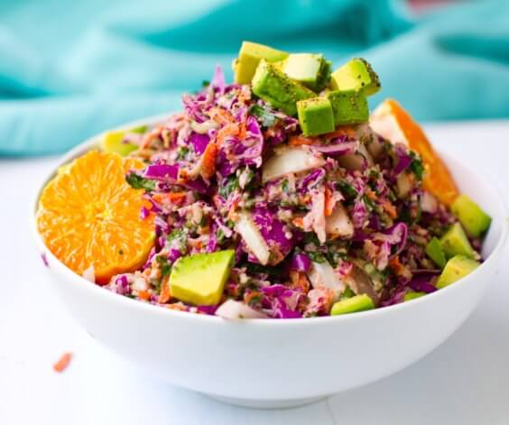 rainbow slaw sweet tahini dressing