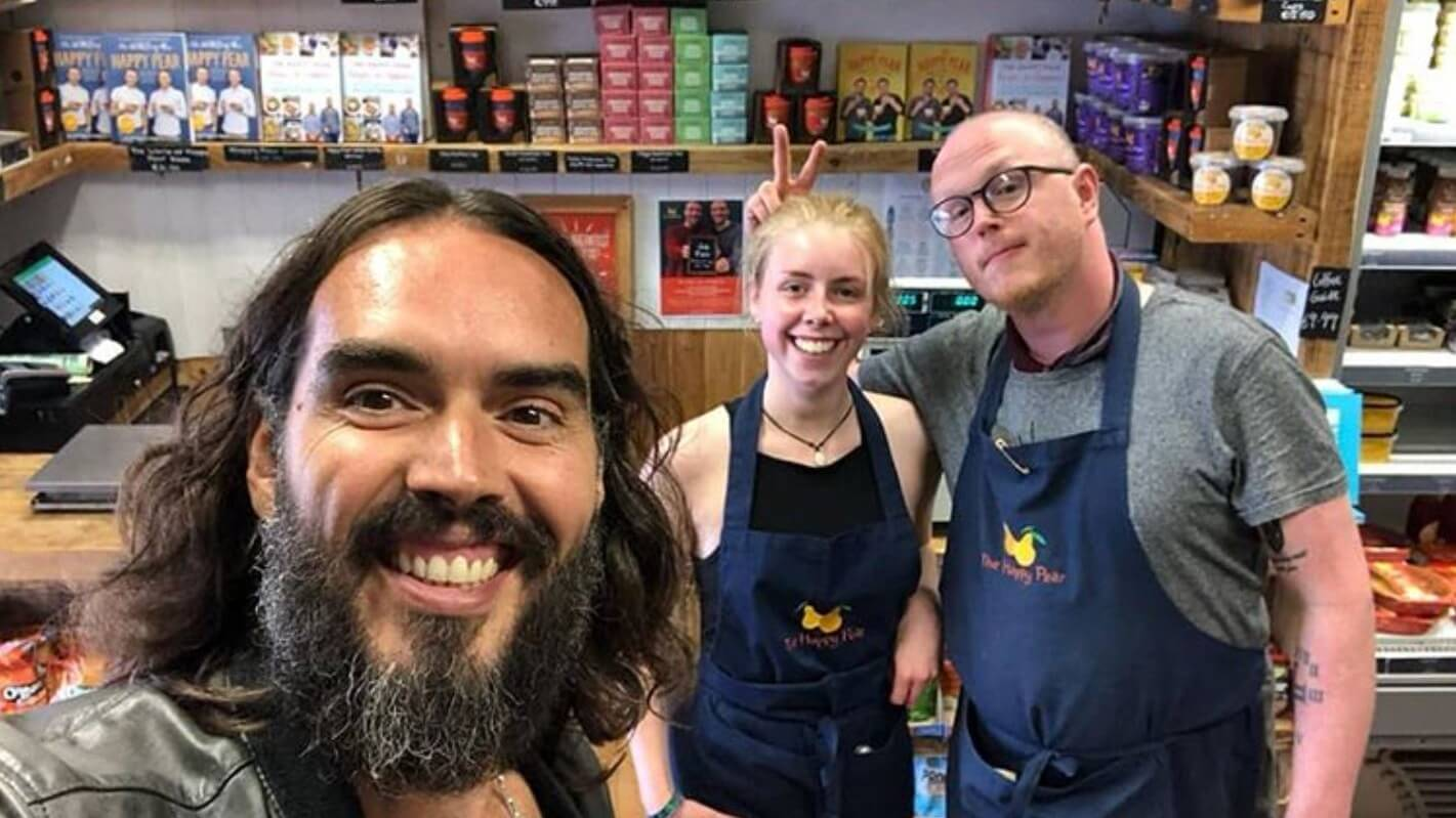 Russell Brand Calls Vegan Irish Restaurant The Happy Pear a 'Culinary Utopia'