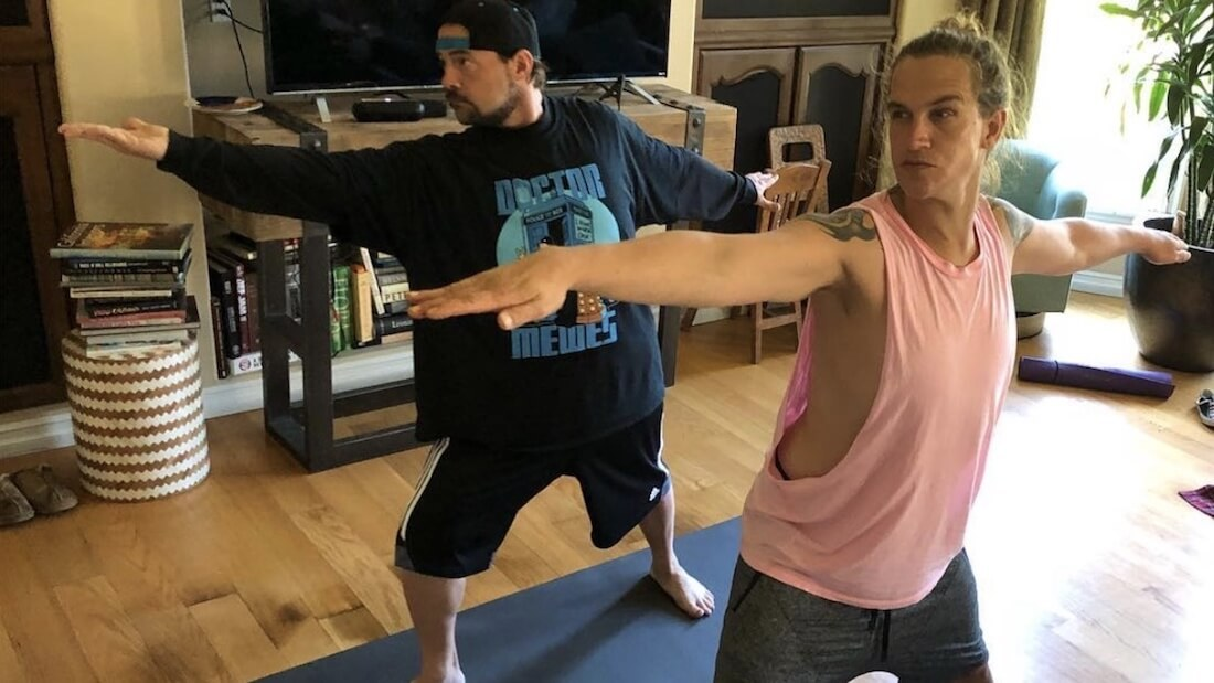 Vegan Kevin Smith and Jason Mewes AKA Jay and Silent Bob Do Yoga Together