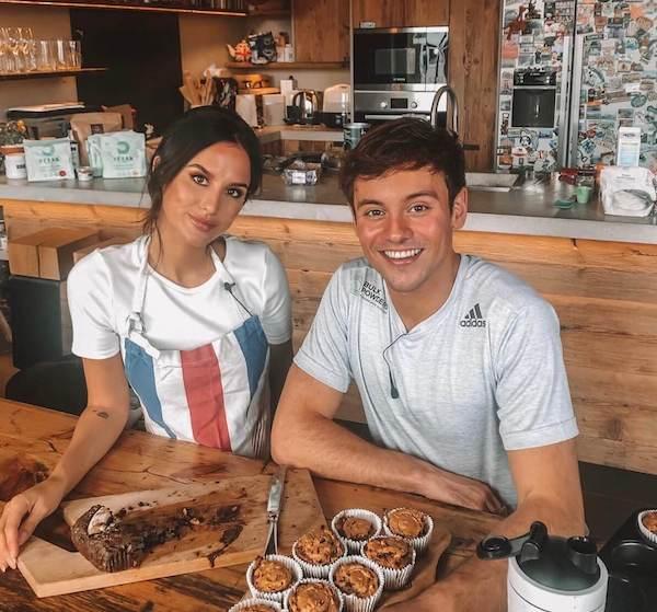 Made in Chelsea's Lucy Watson Challenges Olympic Champion Tom Daley In Vegan Bake-Off