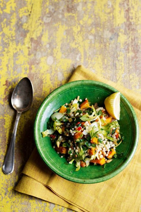 Giant couscous with butternut squash & herbs