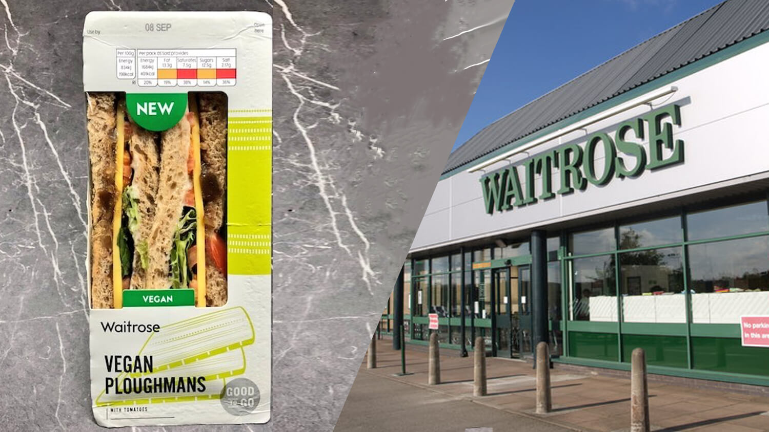 UK Supermarket Chain Waitrose Launches Vegan Ploughmans Sandwich