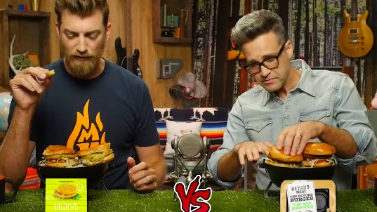 Enter title here Comedy Duo Rhett and Link Crown the Best Vegan Burger