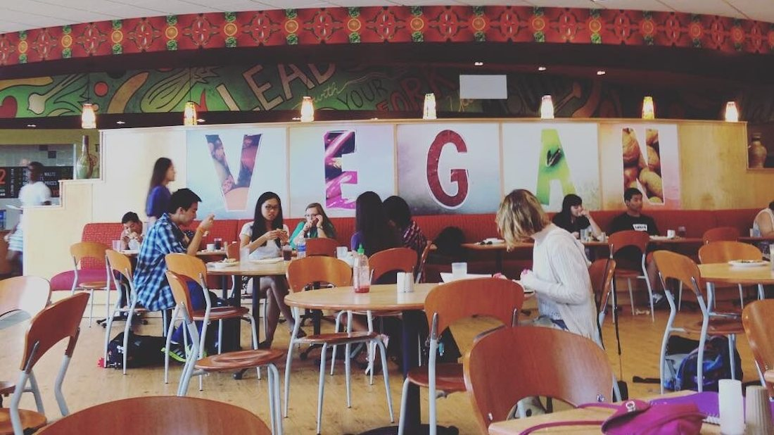Over 80% of Meat-Eating University of North Texas Students Regularly Choose the Vegan Dining Hall
