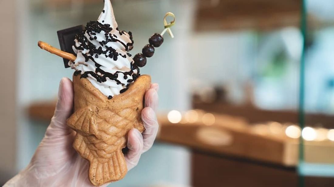 Vancouver's Stuffies Pastries Cafe Creates Vegan Taiyaki Stuffed With Dairy-Free Soft-Serve