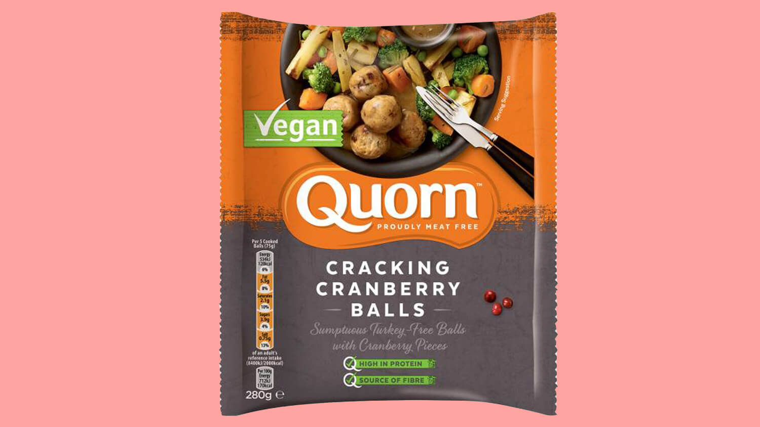 Vegetarian Meat Brand Quorn Launches Festive Vegan Turkey 'Cracking' Cranberry Balls