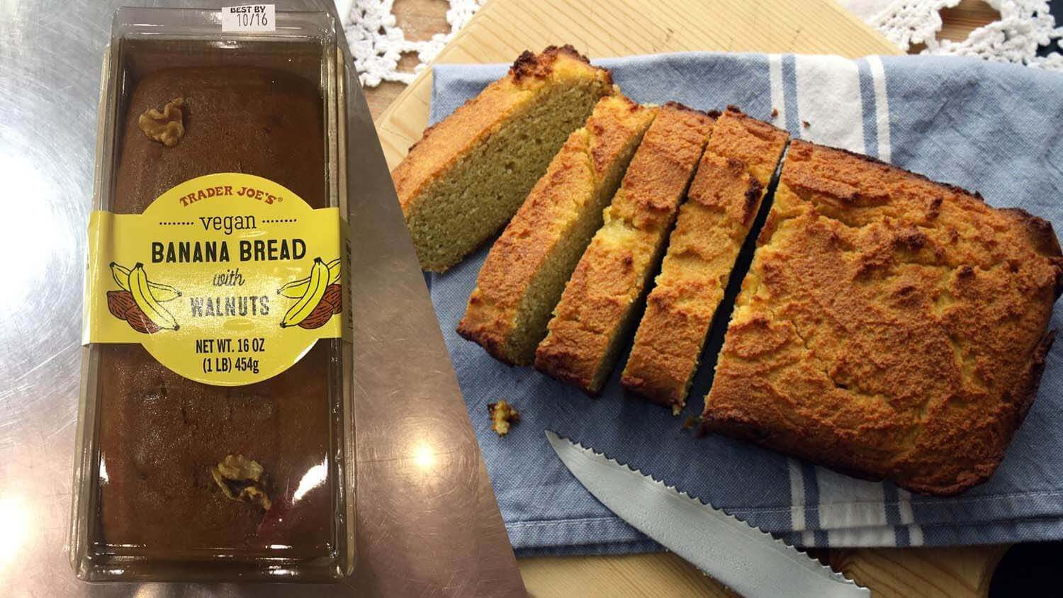 Trader Joe's Launches Nutty Vegan Banana Bread Loaf